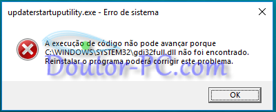 Erro de sistema - windows 10