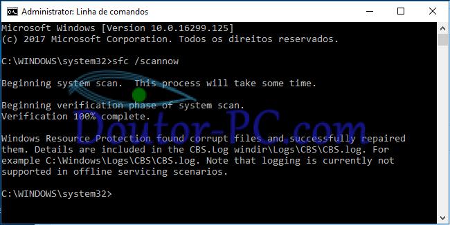 Linha de comandos - windows 10